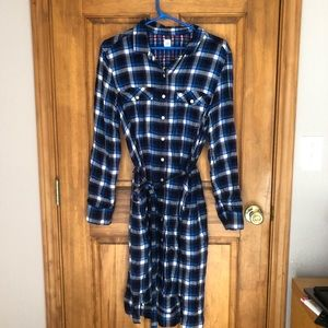 Plaid shirt dress w pockets!